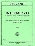Intermezzo op. posth. -Parts Anton Bruckner laflutedepan.com