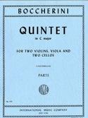 Quintet in C major - Parts BOCCHERINI Partition laflutedepan.com