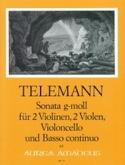 Sonat en Sol Mineur TELEMANN Partition Sextuors - laflutedepan.com