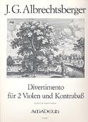 Divertimento in D-Dur -2 Violen Kontrabass - Partitur + Stimmen laflutedepan.com