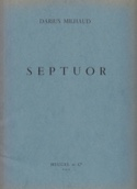 Septuor - Parties Darius Milhaud Partition SEPTUORS - laflutedepan.com