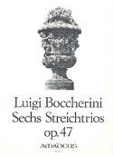 6 Streichtrios op. 47 –Stimmen Luigi Boccherini laflutedepan.com