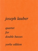 Quartet for double basses Joseph Lauber Partition laflutedepan.com