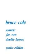Sonnets Bruce Cole Partition Contrebasse - laflutedepan.com