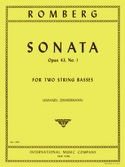 Sonate op. 43 n° 1 - 2 String Basses Bernhard Romberg laflutedepan.com