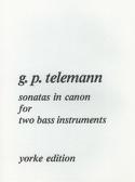 Sonatas in Canon TELEMANN Partition Contrebasse - laflutedepan.com