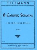 6 Canonic Sonatas - 2 Double basses TELEMANN laflutedepan.com