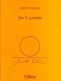 Trio à cordes –Parties + Conducteur Giacinto Scelsi laflutedepan.com