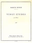 20 Etudes - pour basson Marcel Bitsch Partition laflutedepan.com
