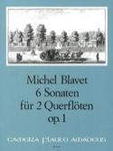 6 Sonaten op. 1 - 2 Flöten Michel Blavet Partition laflutedepan.com