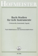 Bach Studien für tiefe Instr. - Heft 5 BACH Partition laflutedepan.com