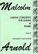 Guitar Concerto op. 67 - Guitar piano Malcolm Arnold laflutedepan.com