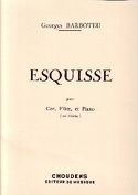 Esquisse - Georges Barboteu - Partition - Trios - laflutedepan.com