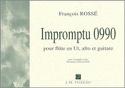 Impromptu 0990 François Rossé Partition Trios - laflutedepan.com
