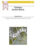 Cantique de Jean Racine -4 Flutes et piano laflutedepan.com