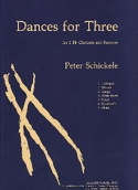 Dances For Three Peter Schickele Partition Trios - laflutedepan.com