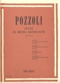 Etudes de Moyenne Difficulté Ettore Pozzoli Partition laflutedepan.com