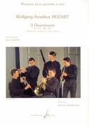 3 Divertimenti KV 213, 240, 252 -Quintette à vent laflutedepan.com