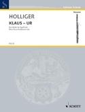 Klaus - Ur - 3 Pieces - Bassoon Solo Heinz Holliger laflutedepan.com