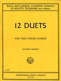 12 Duets - 2 String basses Stuart Sankey Partition laflutedepan.com