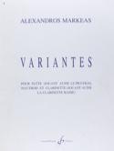 Variantes Alexandros Markeas Partition Trios - laflutedepan.com