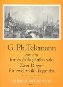 Sonate et 2 Duos TELEMANN Partition Viole de gambe - laflutedepan.com