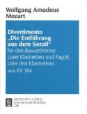 Divertimento Die Entführung aus dem Serail -3 Bassetthörner 2 Kl. Fag./3Kl. laflutedepan.com