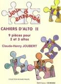 Cahiers d'alto 2 Claude-Henry Joubert Partition laflutedepan.com