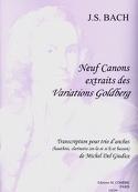 9 Canons extr. des Variations Goldberg -Trio d'anches laflutedepan.com