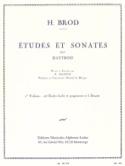 Etudes et Sonates Volume 1 Henri Brod Partition laflutedepan.com