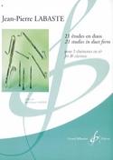 21 Etudes en duos Jean-Pierre Labaste Partition laflutedepan.com