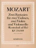2 Fantaisien KV 594 und KV 608 -Partitur + Stimmen laflutedepan.com