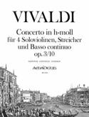 Concerto En Si Min.Op. 3 N° 10 - Rv.580 VIVALDI laflutedepan.com