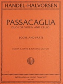 Passacaglia - Violin cello HAENDEL Partition Duos - laflutedepan.com