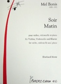 Soir & Matin - Trio violon, violoncelle et piano - laflutedepan.com
