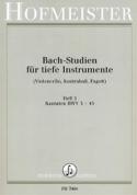 Bach Studien Kantaten BACH Partition Violoncelle - laflutedepan.com