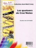 Les quatuors de Croc'notes Jean-Noël Crocq Partition laflutedepan.com