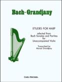 Etudes For Harp BACH Partition Harpe - laflutedepan.com