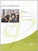 Menuet extr. de la Sérénade Op. 11) BRAHMS Partition laflutedepan.com