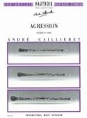Agression - André Caillieret - Partition - Hautbois - laflutedepan.com