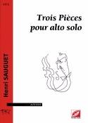 3 Pièces Henri Sauguet Partition Alto - laflutedepan.com