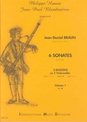 6 Sonates Volume 1 Jean-Daniel Braun Partition laflutedepan.com