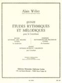 15 Etudes Rythmiques et Mélodiques Alain Weber laflutedepan.com