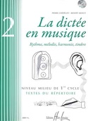 La Dictée en Musique Volume 2 - Milieu du 1er Cycle laflutedepan.com