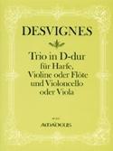 Trio D-Dur -Harfe Violine Violoncello laflutedepan.com