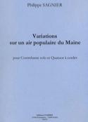 Variations sur un air populaire du Maine -Conducteur + Partie laflutedepan.com