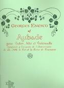 Aubade Georges Enesco Partition Trios - laflutedepan.com