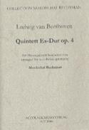 Quintett En Mib Maj. Op.4 BEETHOVEN Partition laflutedepan.com
