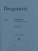 12 Valses pour contrebasse seule Domenico Dragonetti laflutedepan.com