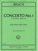 Concerto N°1 Sol Mineur Op.26 BRUCH Partition Violon - laflutedepan